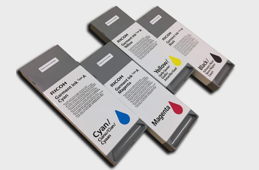 Anajet has released Ricoh Garment Ink