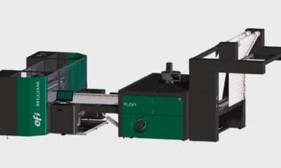EFI has released the 73-in. Reggiani Renoir Flexy textile printer