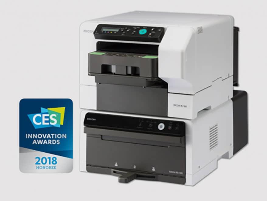 The Ricoh RI 100 DTG printer