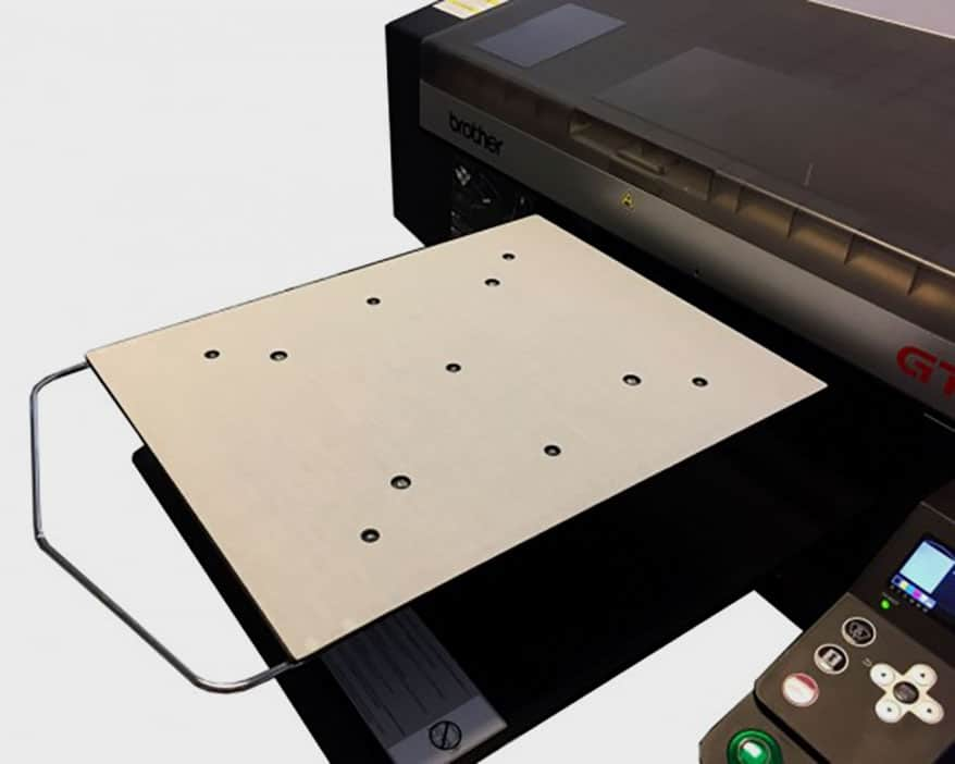 Brother DTG has introduced a larger-size platen for the GTX direct-to-garment printer.