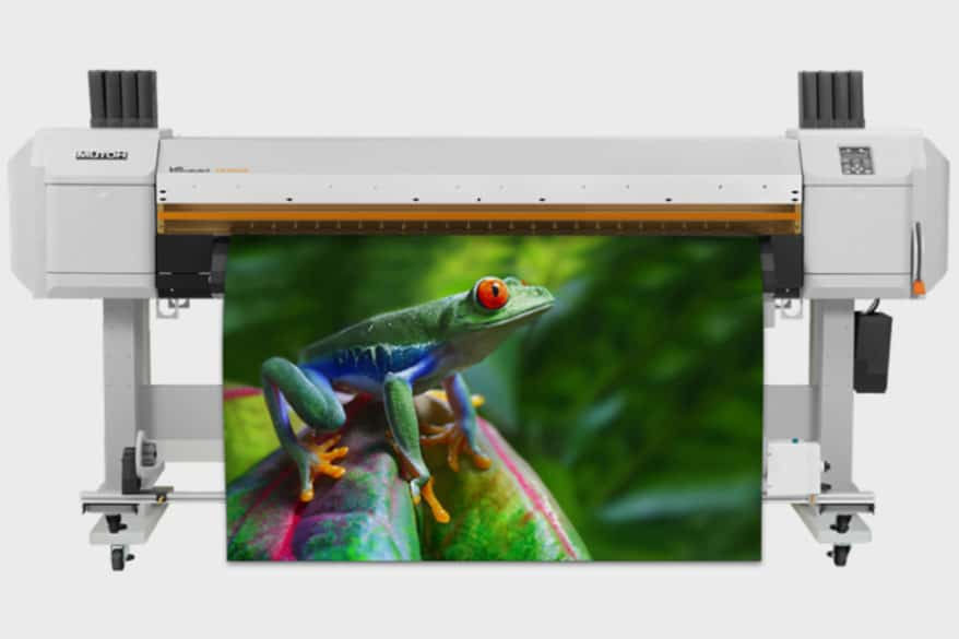 Mutoh's 64-in. 6-color ValueJet VJ-1638UR UV LED roll-to-roll inkjet printer offers a staggered dual printhead design and dual UV lamps for higher productivity.