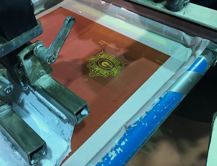 A Georgia left chest on press during a test run.