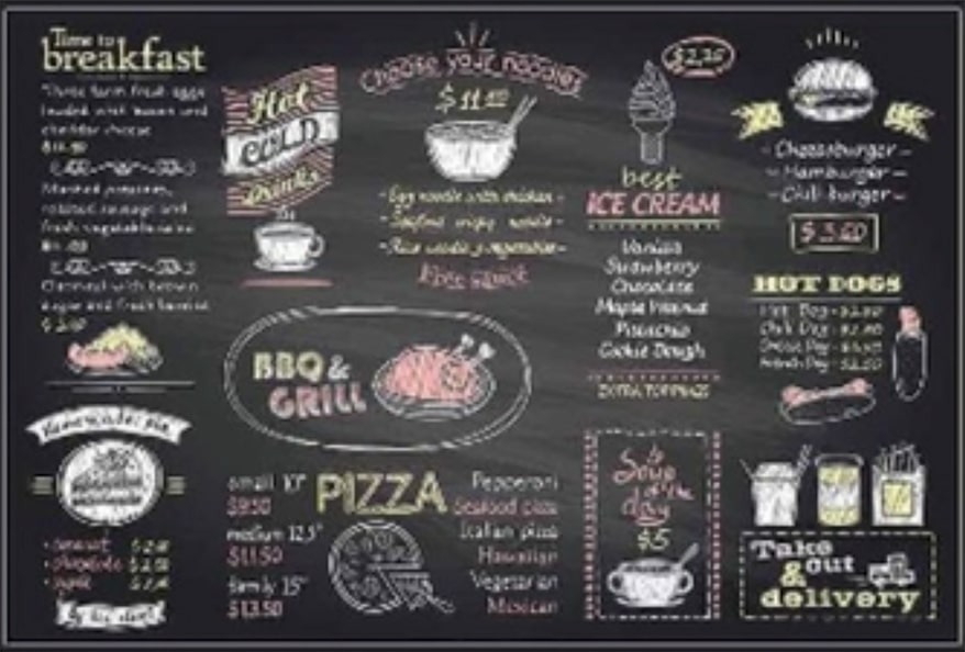 Printable chalkboard film