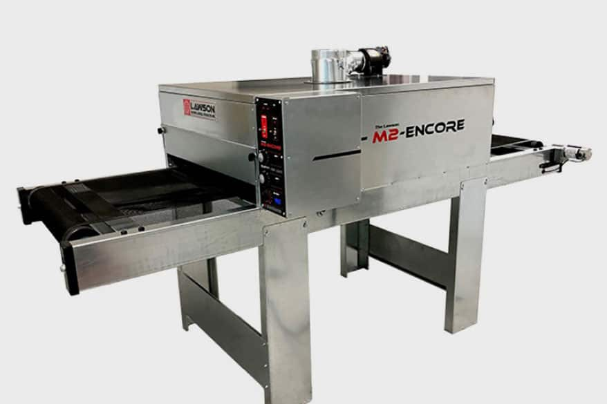 Lawson has added the M2-Encore electric screen-printing dryer
