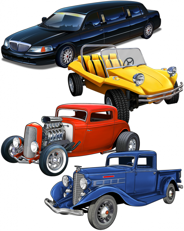 Great_Dane_Graphics_Automobiles_Collage
