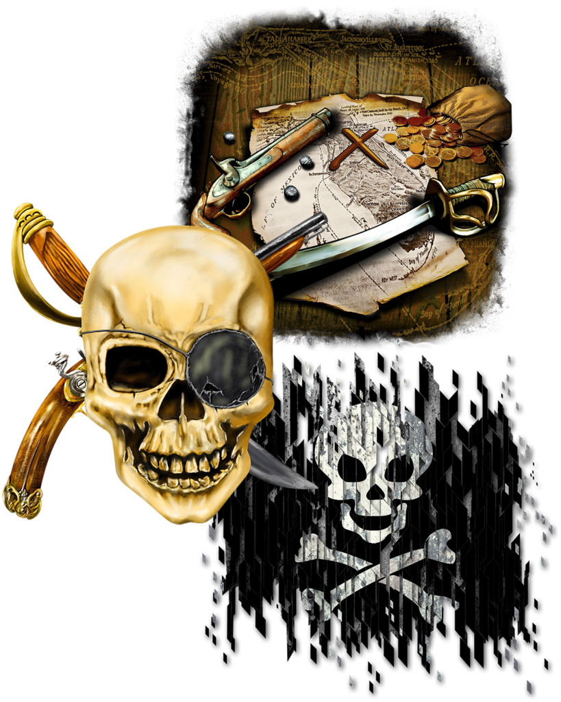 Great Dane Graphic's pirate collection of royalty-free artwork