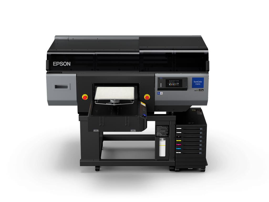 Epson SureColor F3070 industrial direct-to-garment printer
