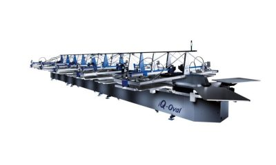 iQ Oval textile printing press with Memjet DuraFlex technology