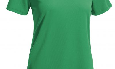 The AJ202D Women's V-Neck Tec Tee from Expert Brand
