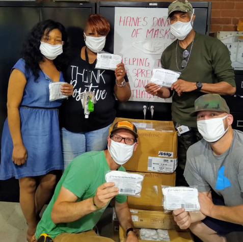 New Hanes #MaskAround Campaign Encourages Americans to Wear Face Masks as Brand Donates One Million Masks to Those Experiencing Homelessness