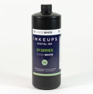 Inkcups vivid white ink bottle