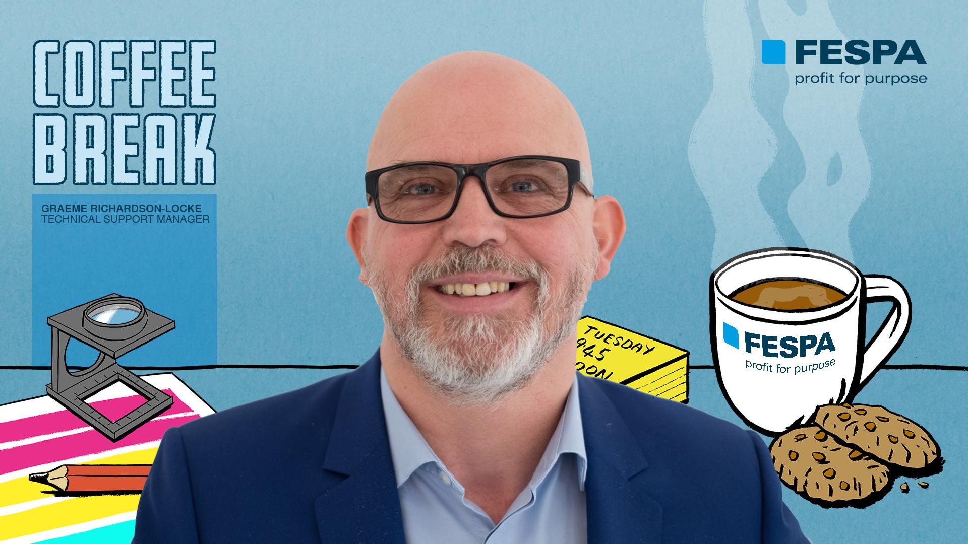 FESPA Coffee Break_Graeme Richardson-Locke, Technical Support Manager, FESPA