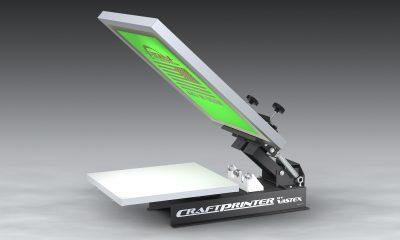 entry-level CraftPrinter Model V-10 screen-printing press