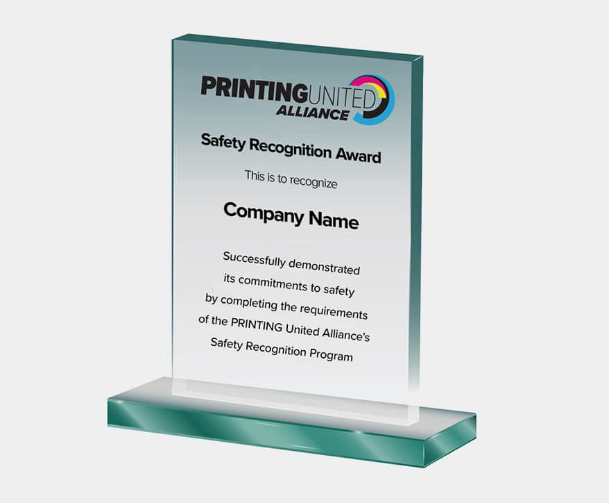 PRINTING United Alliance Announces Safety Recognition Program Award Recipients