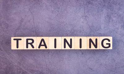 word-training on purple background