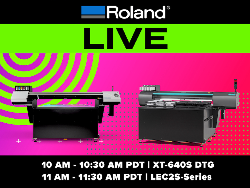 Roland DGA to Host Virtual Product Launch Event on Oct. 13
